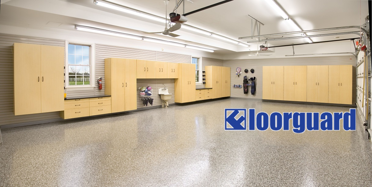 Large Garage with Garage Floor Epoxy Coating | Floorguard.com
