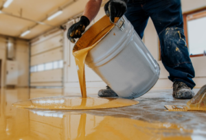 Epoxy Being Applied to a Floor
